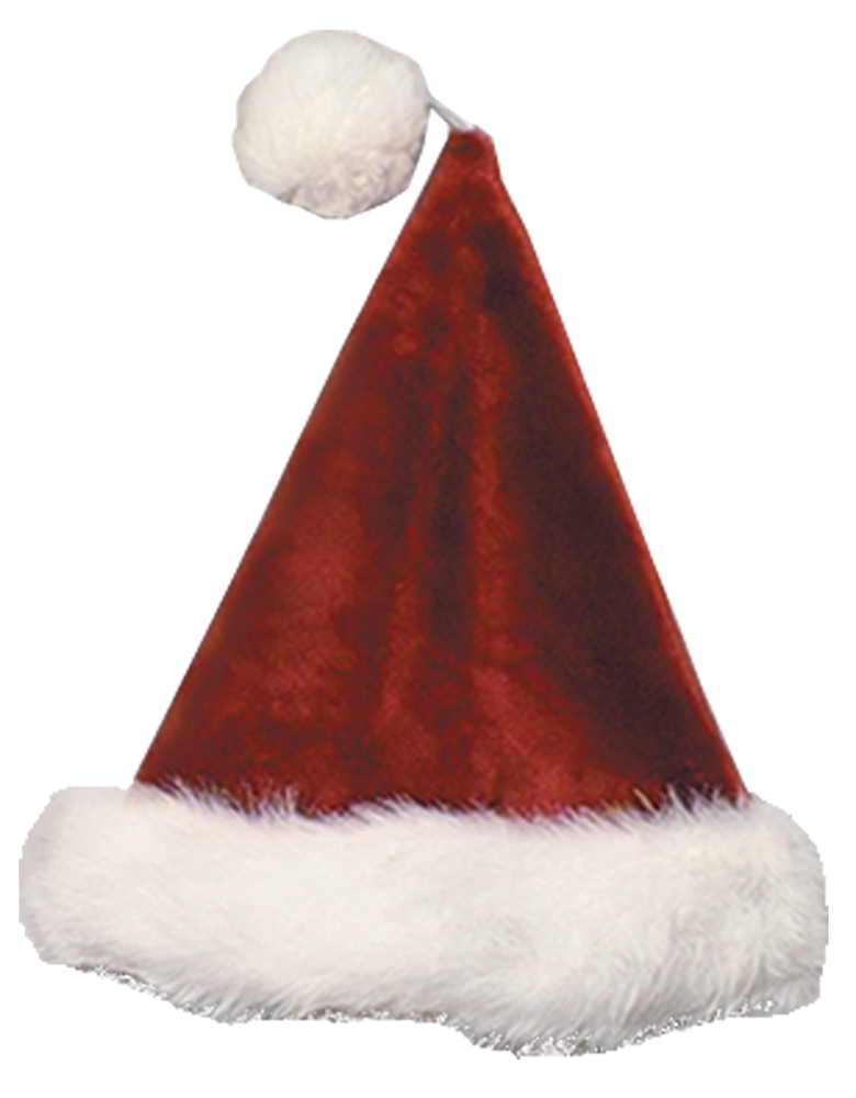 Featured Image for Burgundy Velvet Plush Santa Hat
