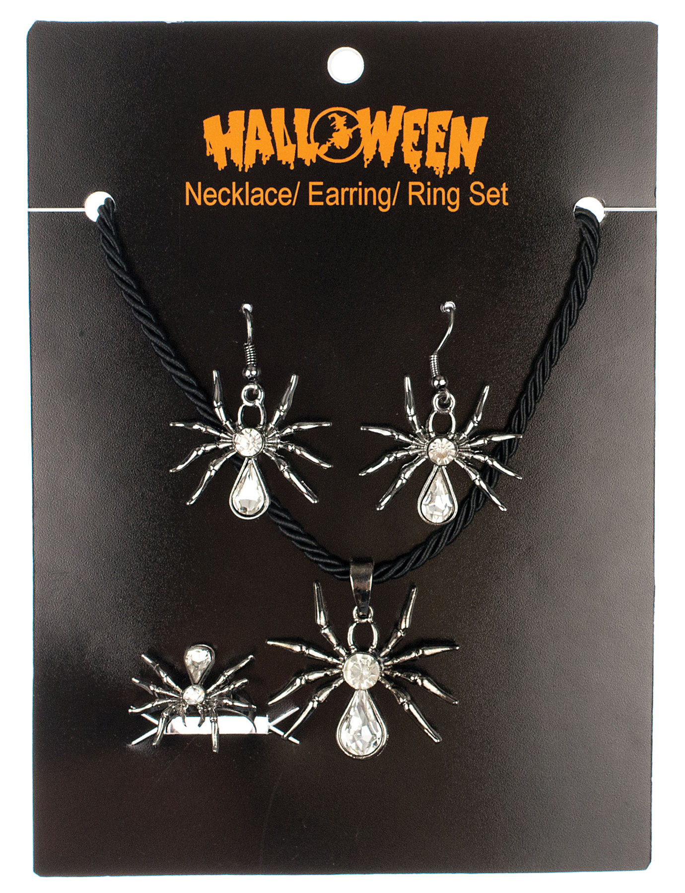 Featured Image for Spider Necklace, Ring & Earring Set