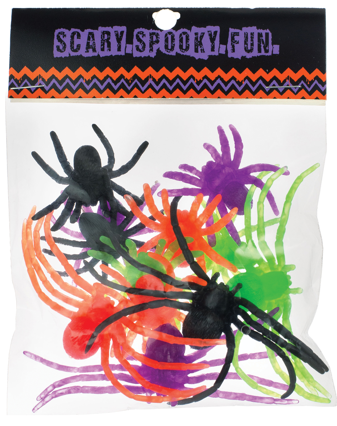 Featured Image for Plastic Spiders Assorted Sizes – Pack of 12