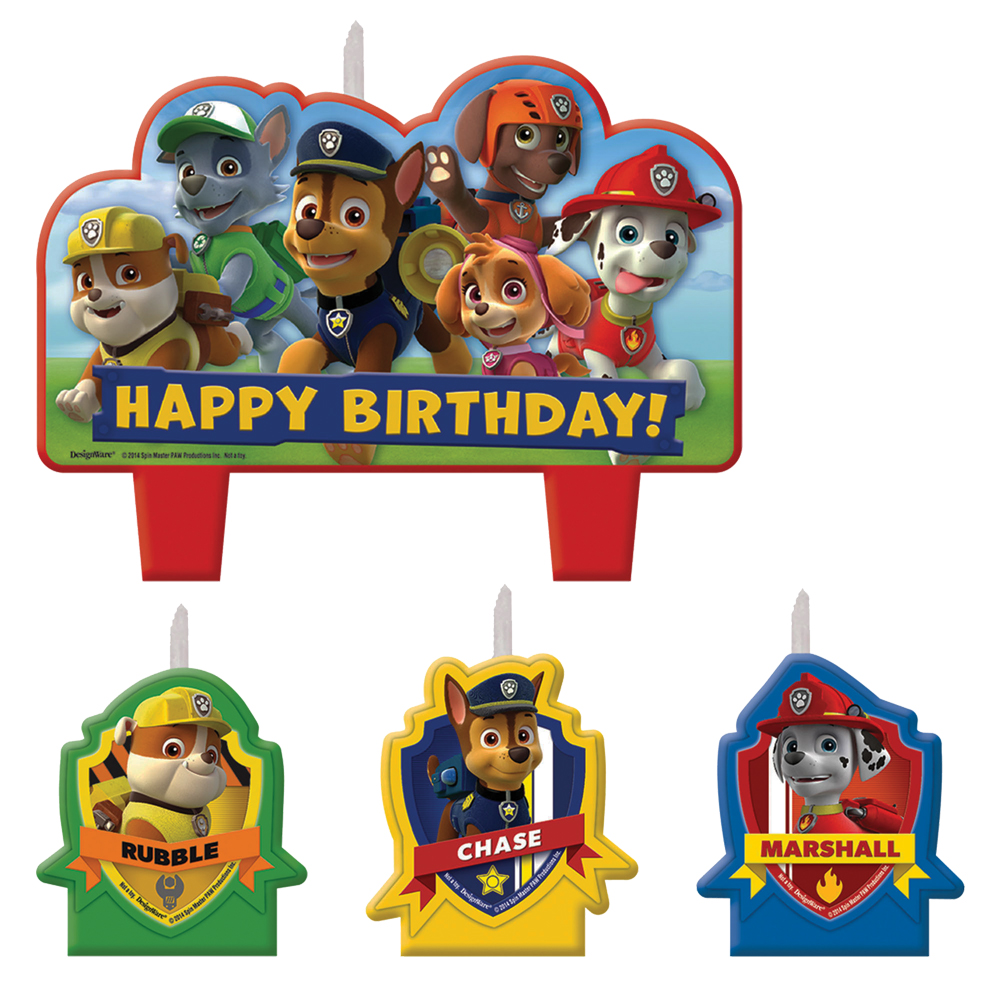 Featured Image for PAW Patrol Candle Set – Pack of 4