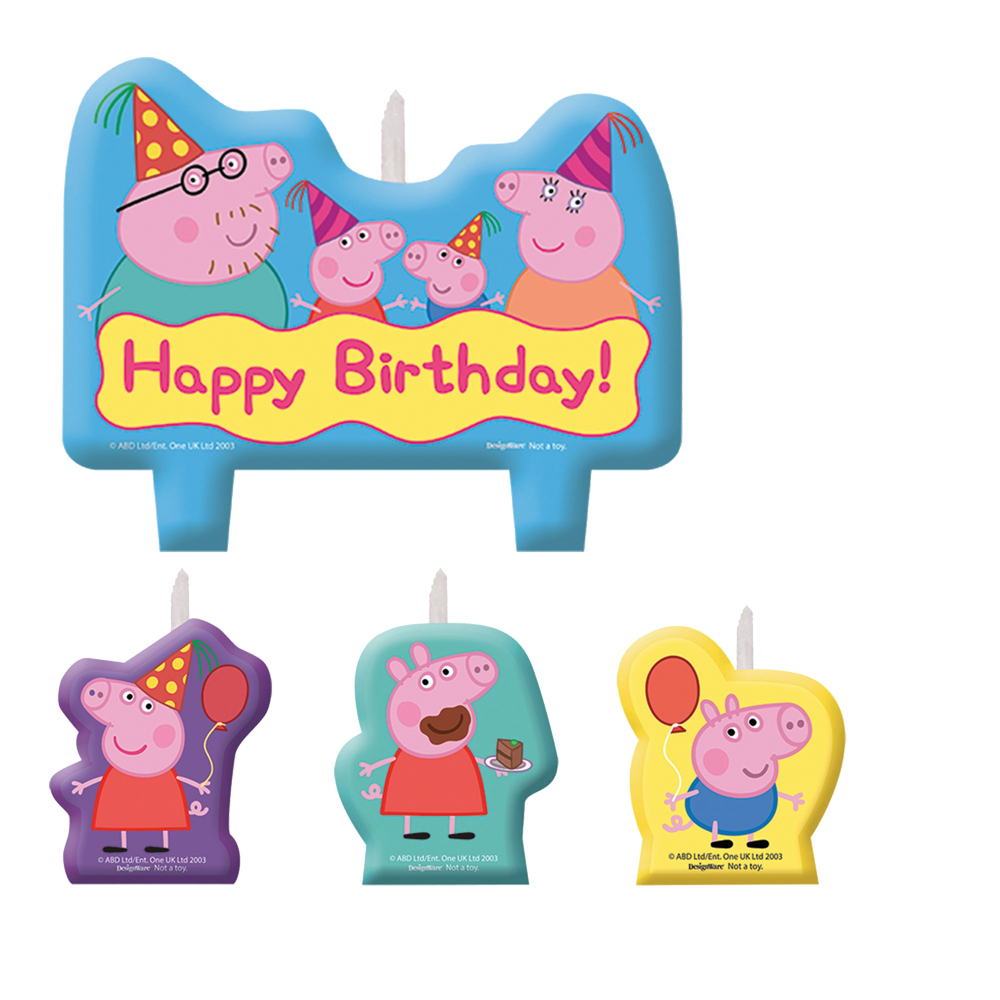 Featured Image for Peppa Pig Birthday Candle Set – Pack of 4