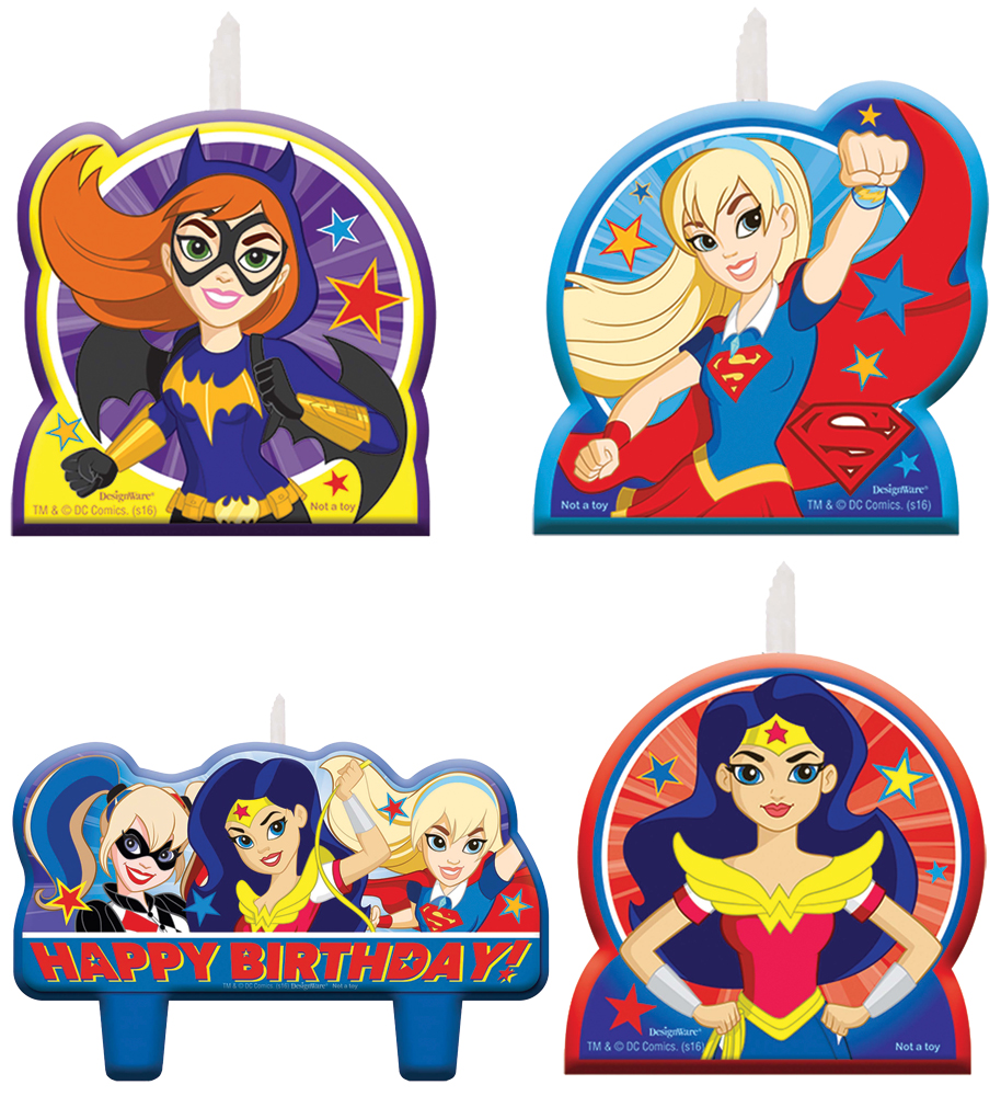 Featured Image for DC Superhero Girls Candle Set – Pack of 4