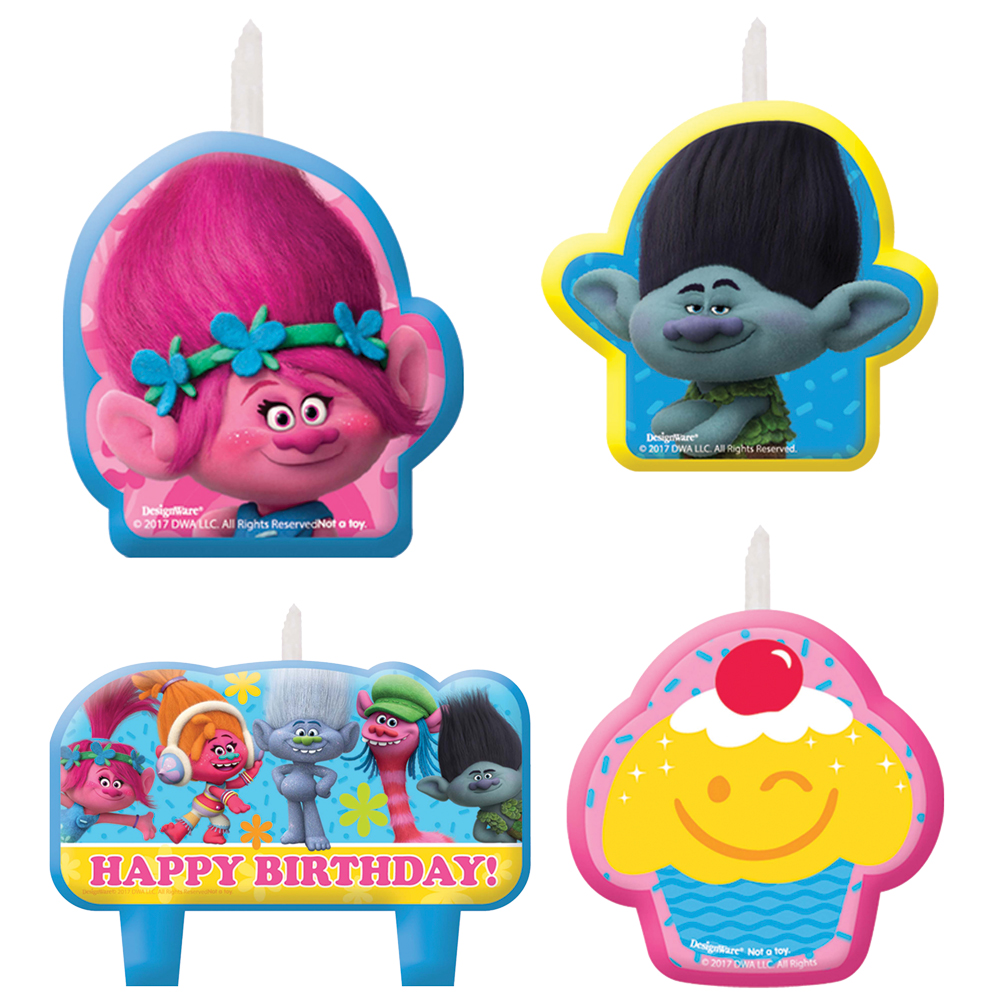 Featured Image for Trolls Birthday Candle Set – Pack of 4