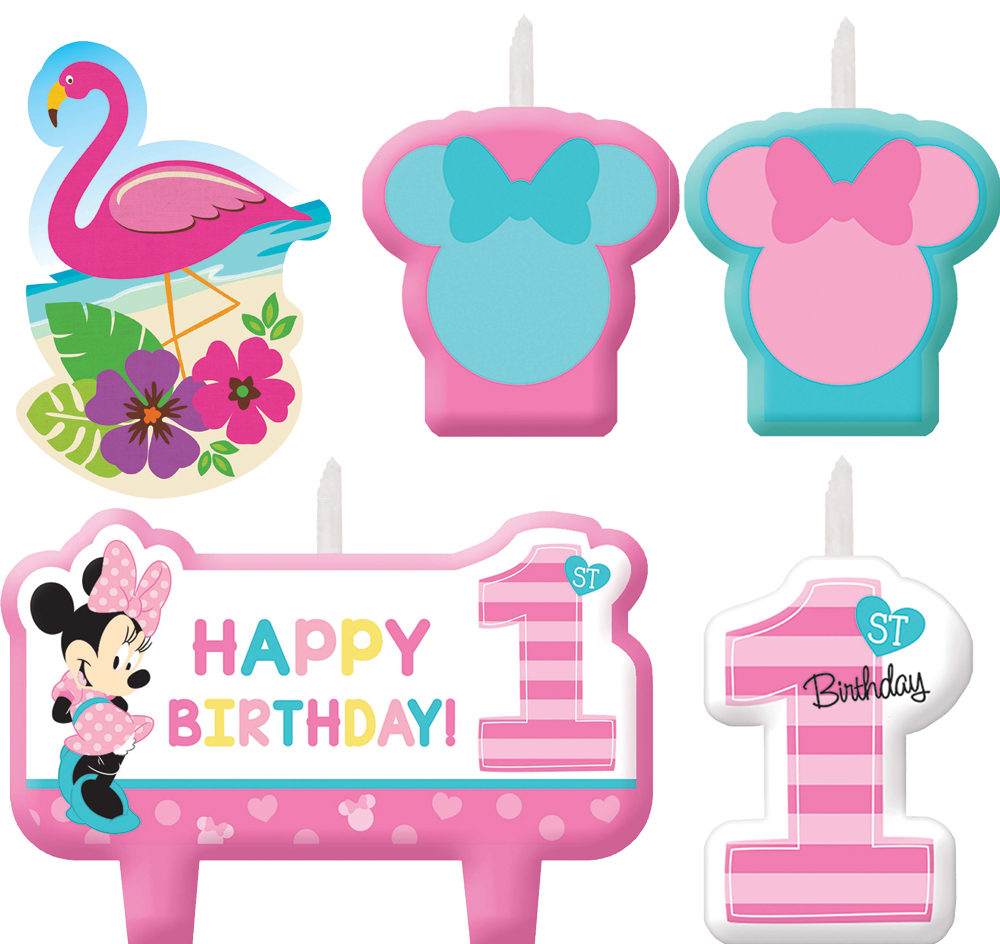 Featured Image for Minnie 1st Birthday Candle Set – Pack of 4