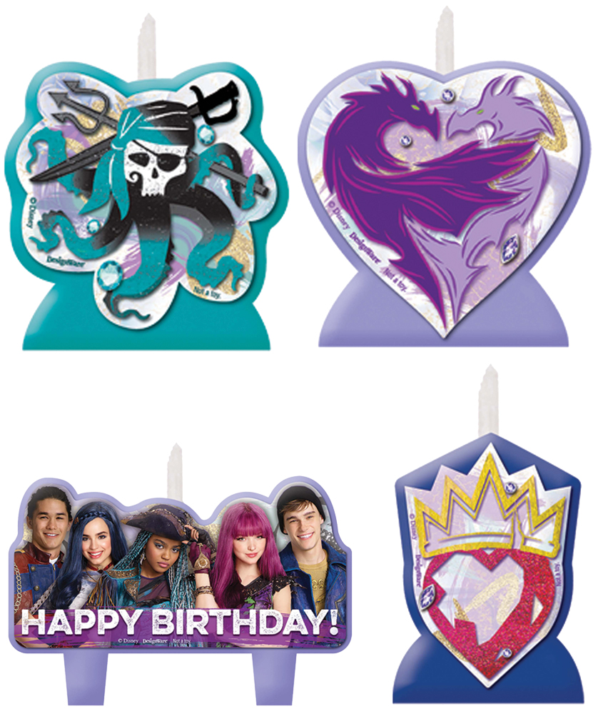 Featured Image for Disney Descendants 2 Candle Set – Pack of 4