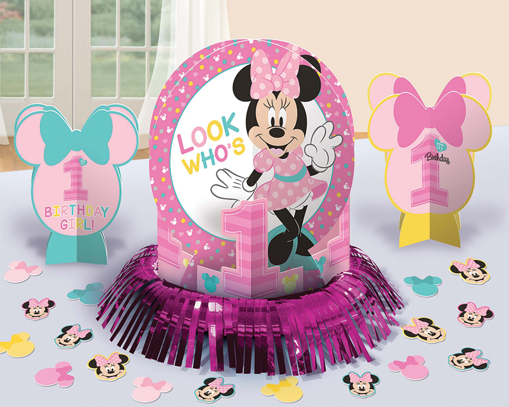 Featured Image for Minnie 1st Birthday Table Decor Kit