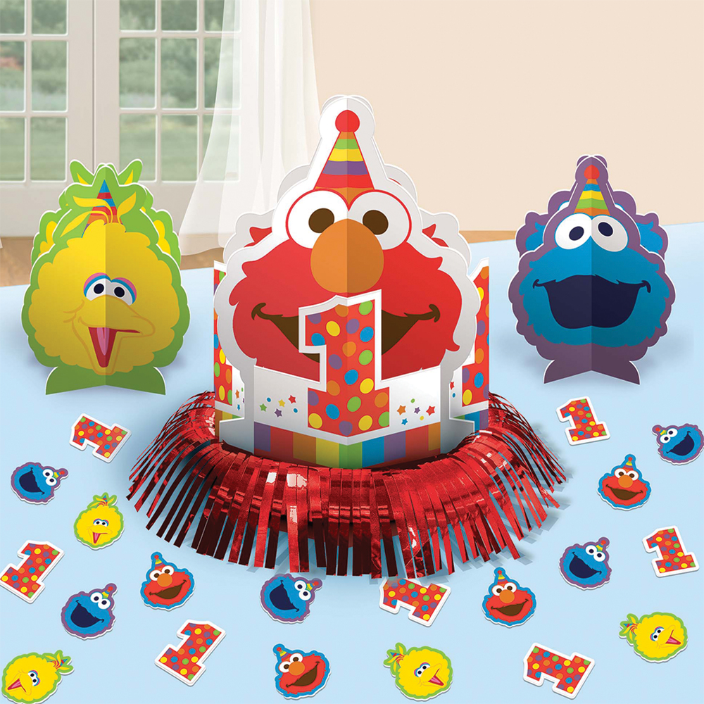 Featured Image for Elmo 1st Birthday Table Decor Kit
