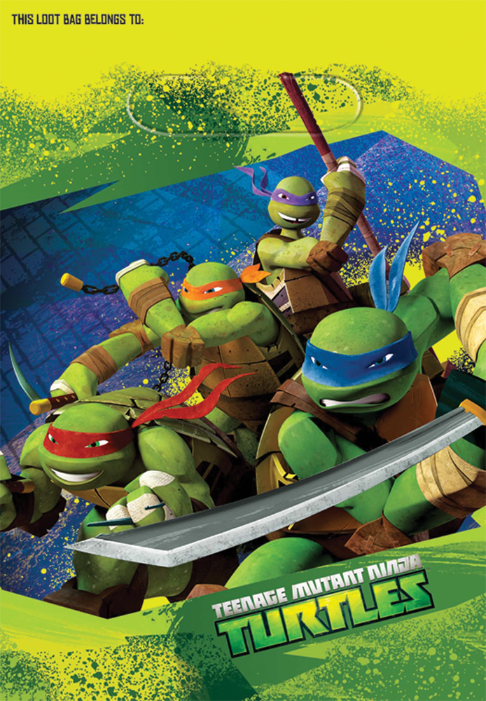 Featured Image for Ninja Turtles Loot Bags – Pack of 8