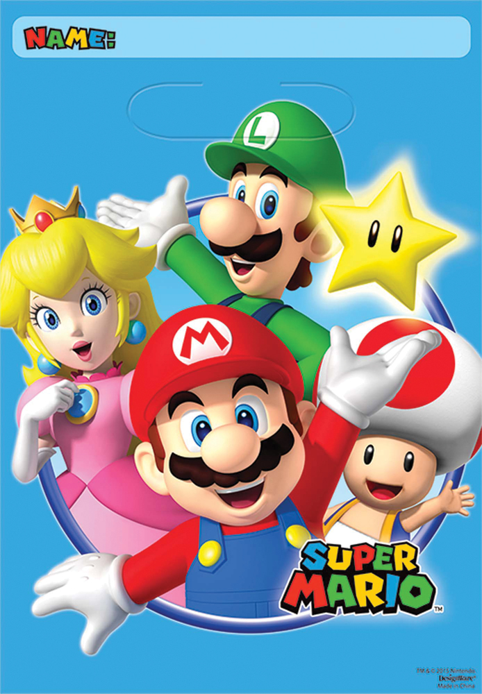 Featured Image for Super Mario Loot Bags – Pack of 8