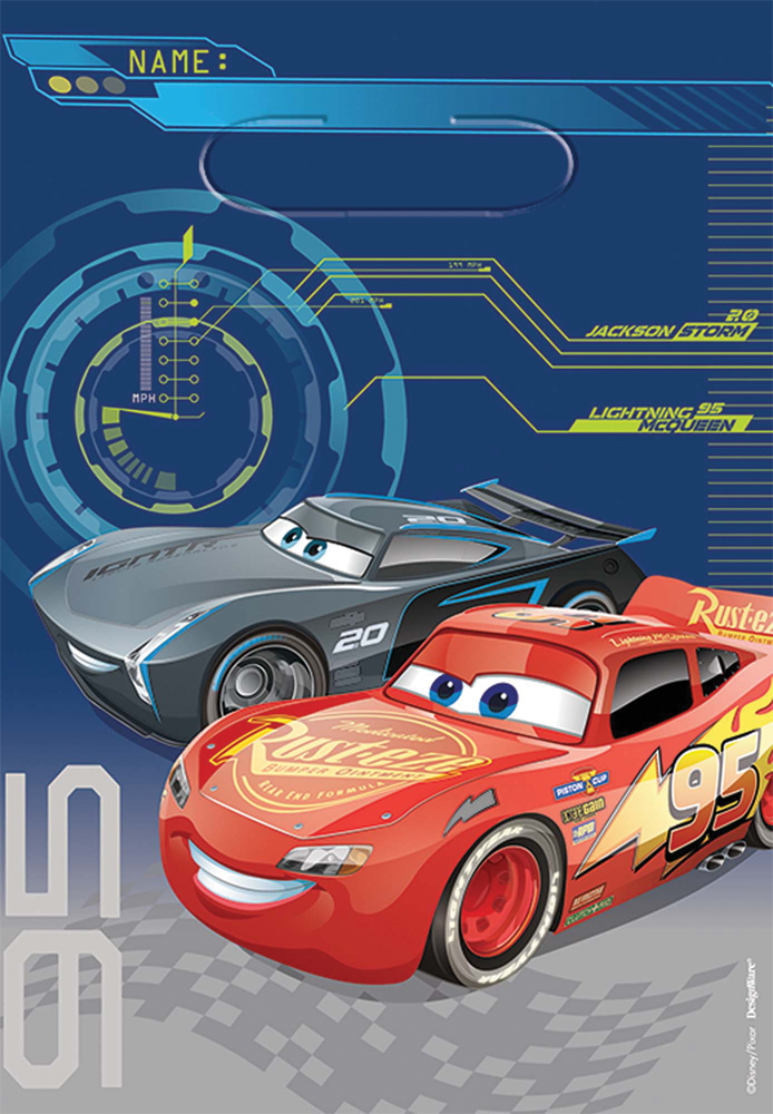 Featured Image for Disney Cars 3 Loot Bags – Pack of 8