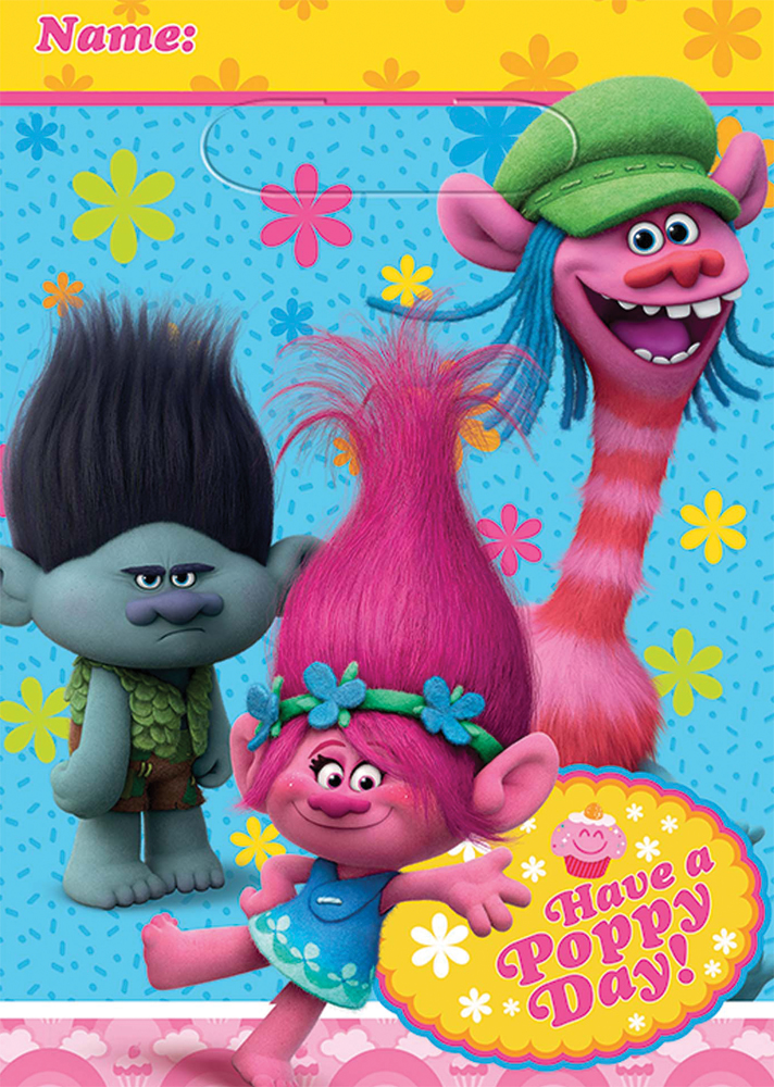 Featured Image for Trolls Folded Loot Bags – Pack of 8