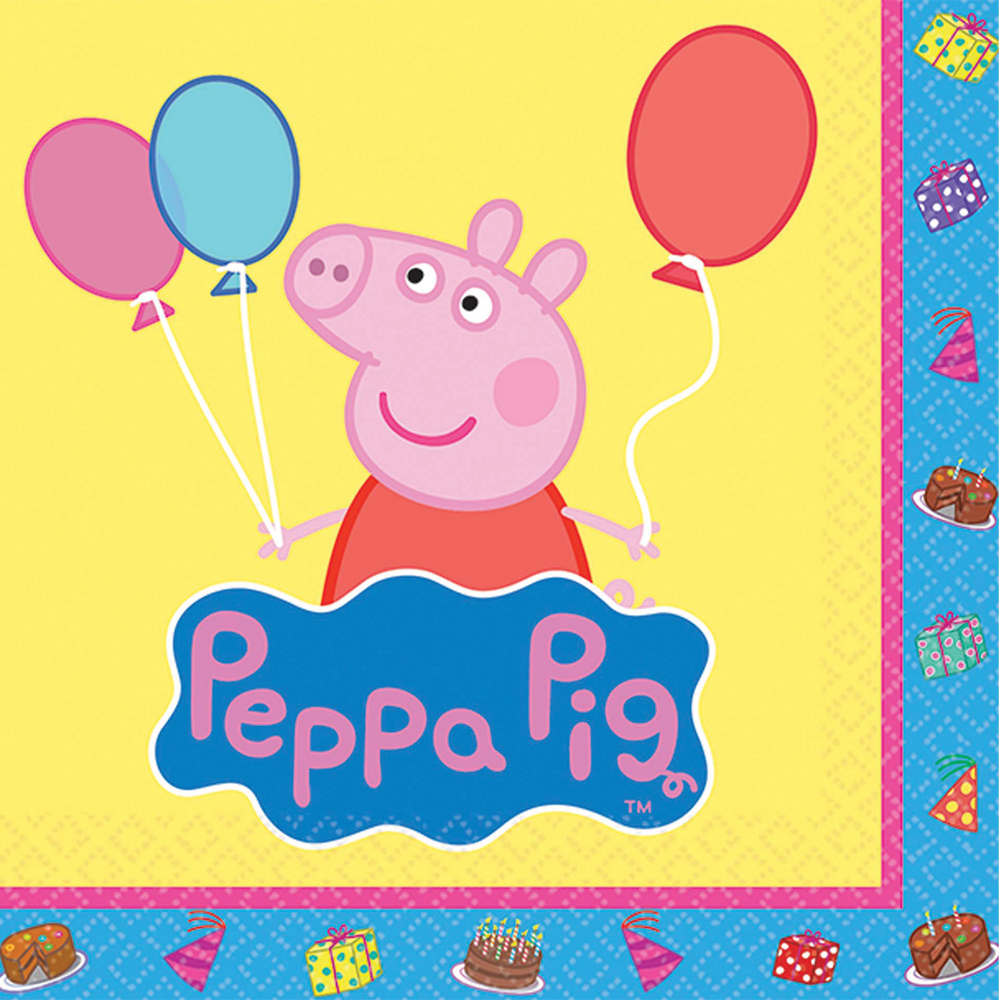 Featured Image for 5″ Peppa Pig Bev Napkins – Pack of 16
