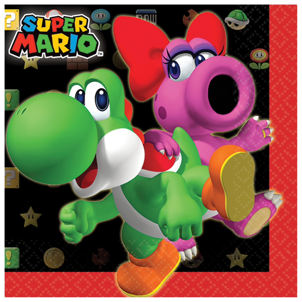 Featured Image for 5″ Super Mario Bev Napkins – Pack of 16