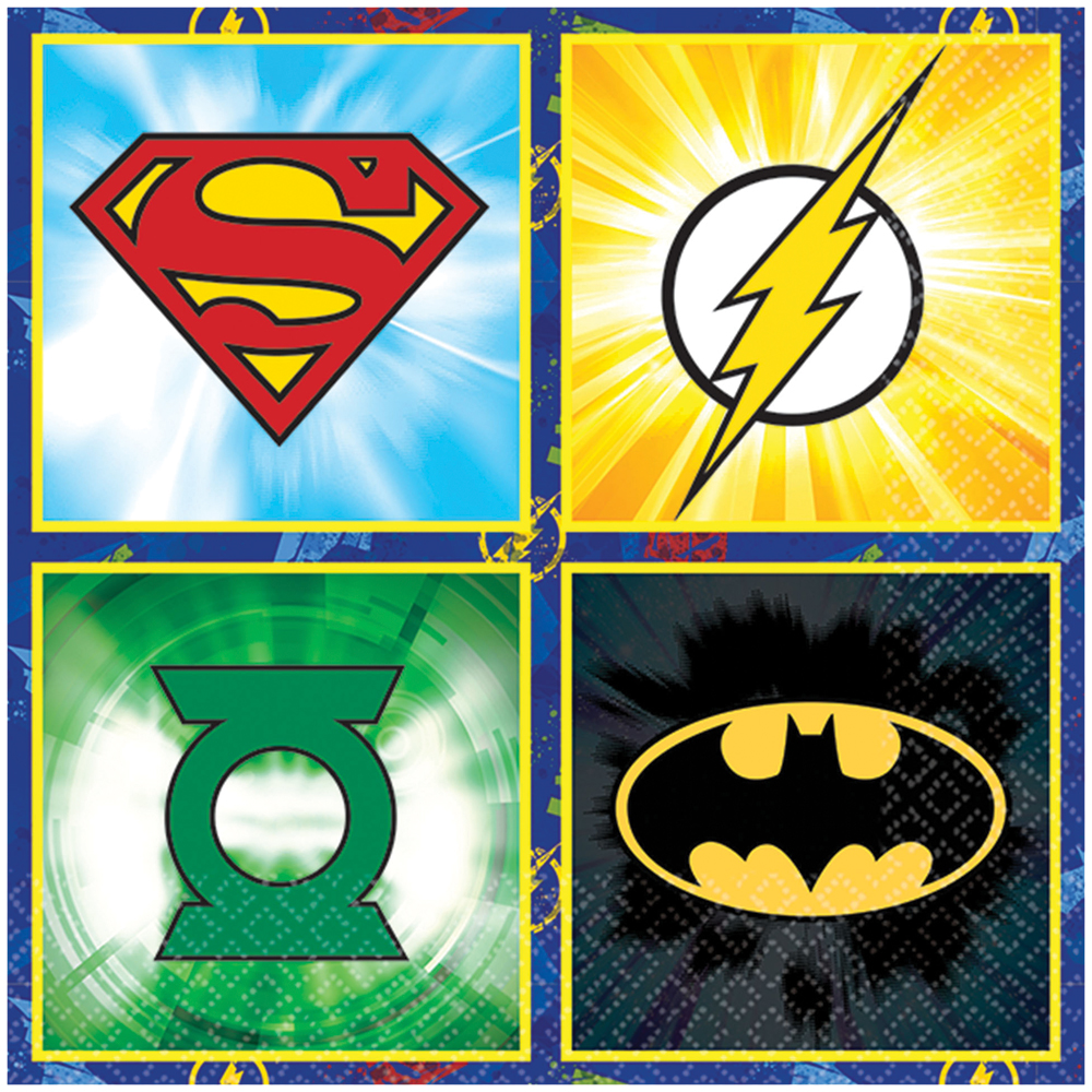 Featured Image for 5″ Justice League Bev Napkins – Pack of 16