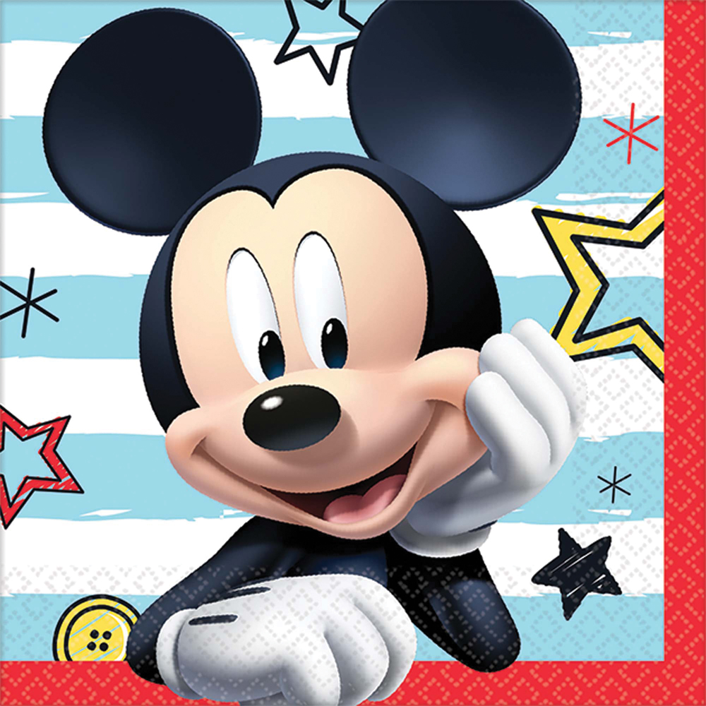 Featured Image for 5″ Disney Mickey Bev Napkins – Pack of 16