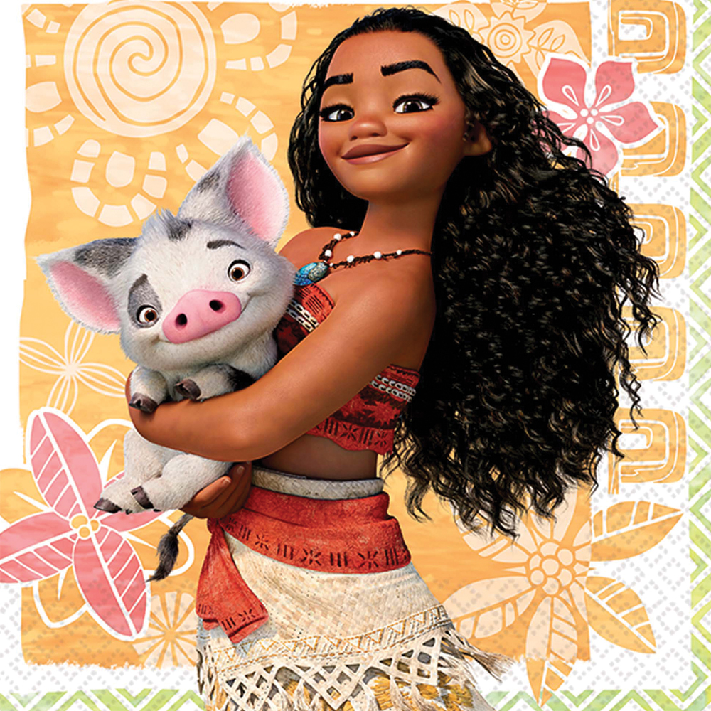 Featured Image for 5″ Moana Bev Napkins – Pack of 16
