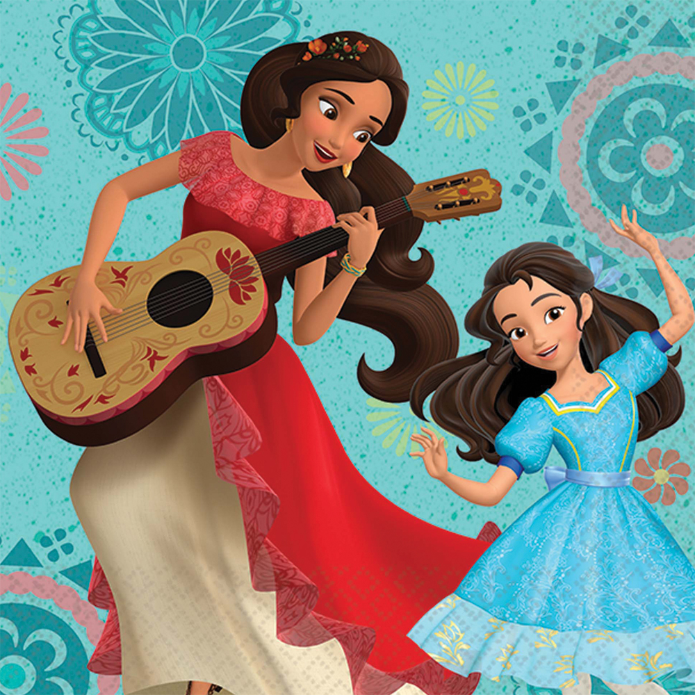 Featured Image for 5″ Elena of Avalor Bev Napkin – Pack of 16