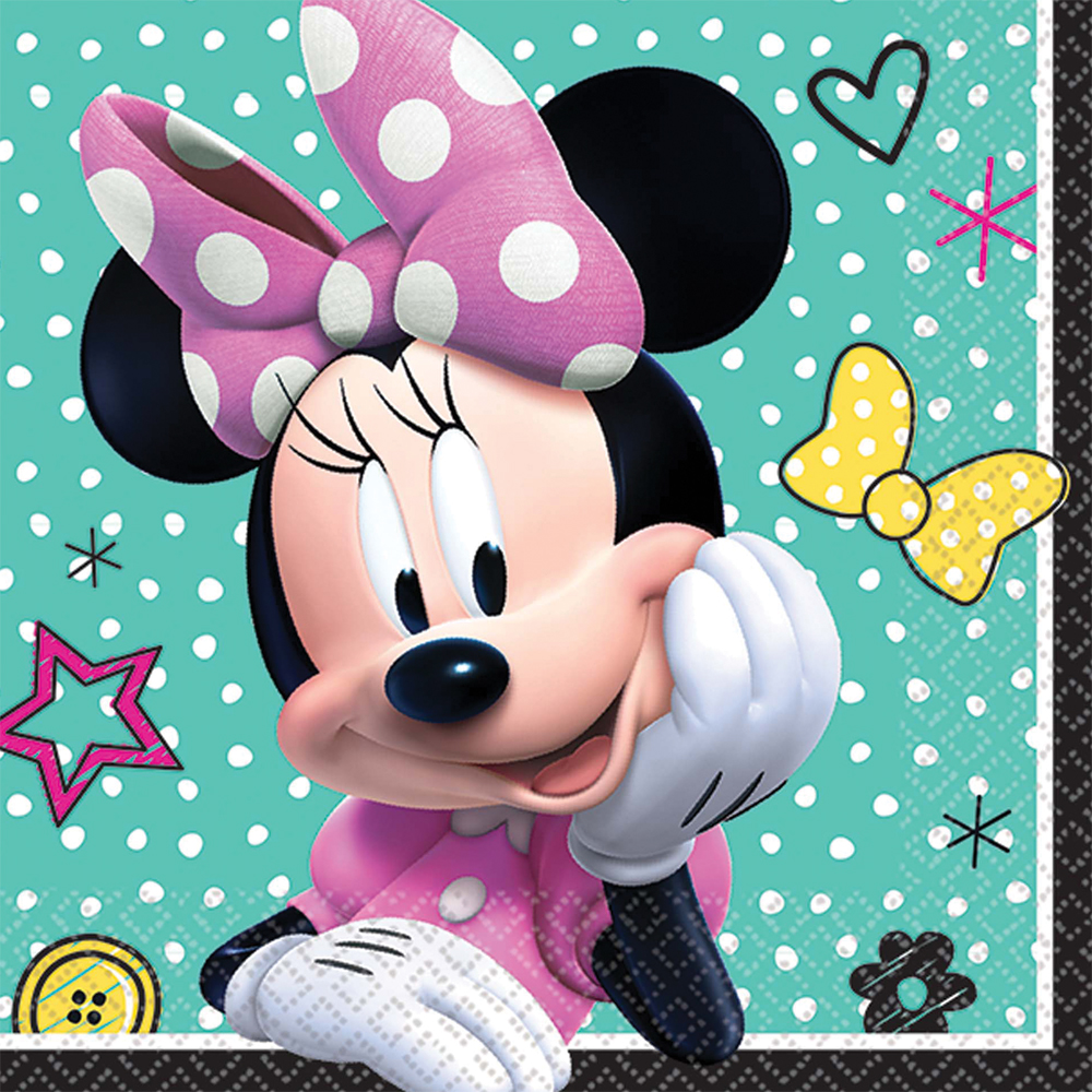 Featured Image for 5″ Minnie Helpers Bev Napkins – Pack of 16