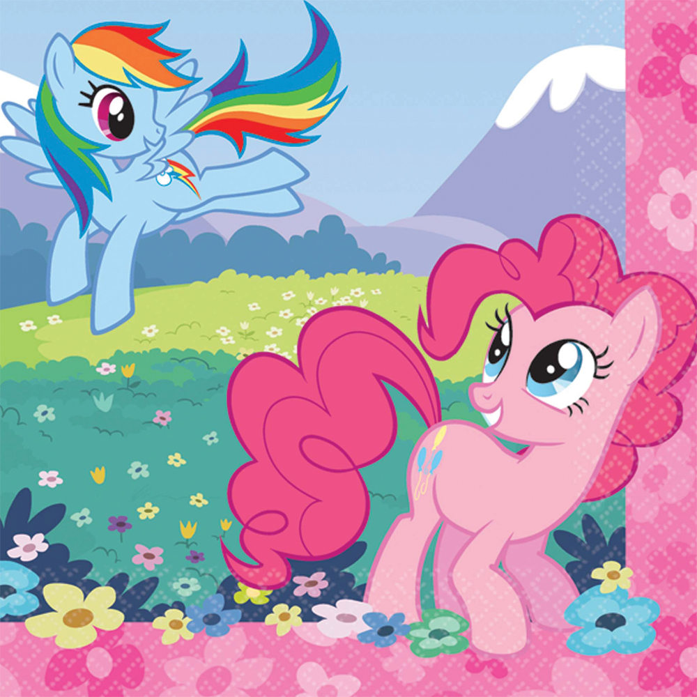 Featured Image for 5″ My Little Pony Bev Napkins – Pack of 16