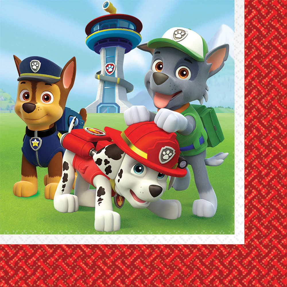 Featured Image for 6.5″ PAW Patrol Lunch Napkins – Pack of 16
