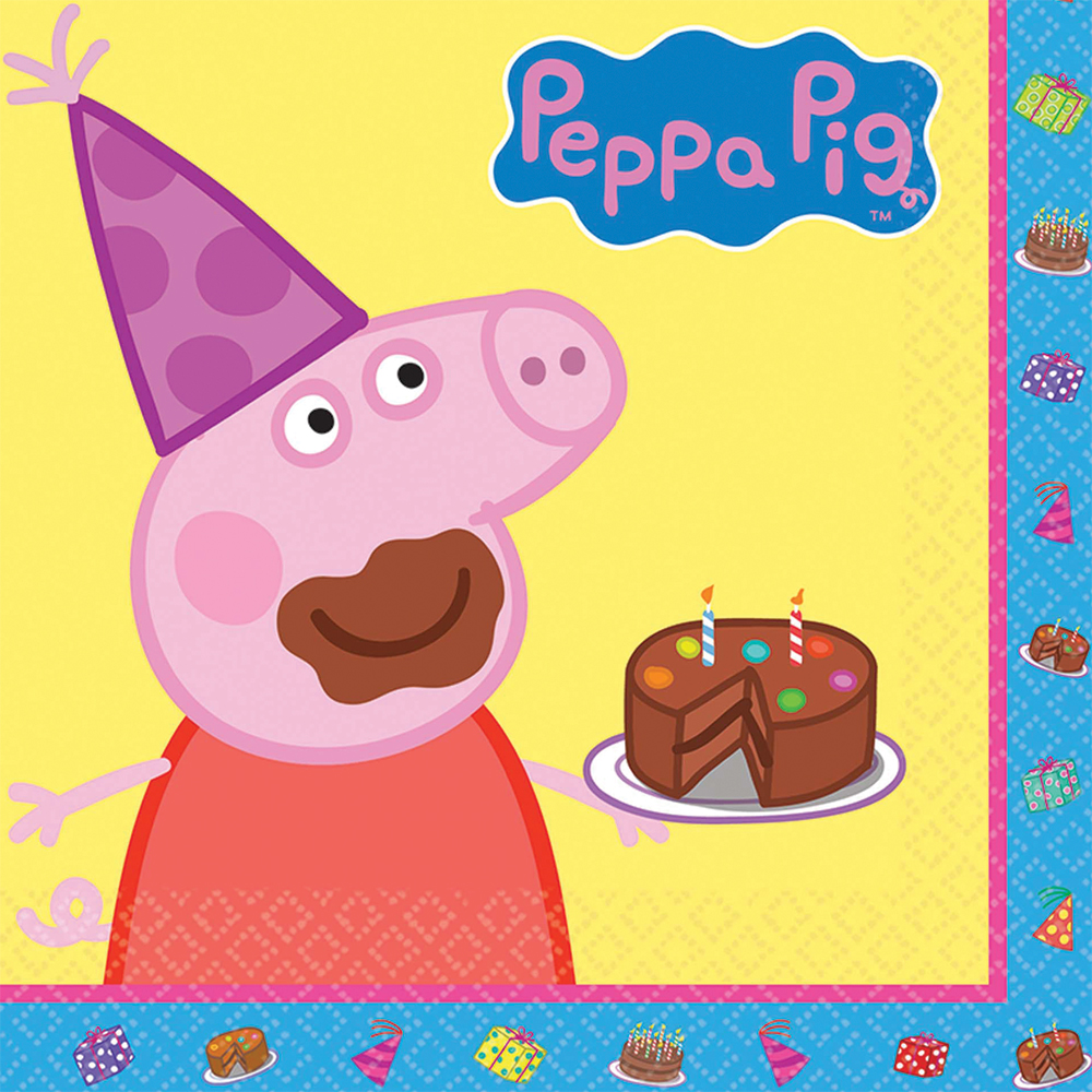 Featured Image for 6.5″ Peppa Pig Lunch Napkins – Pack of 16