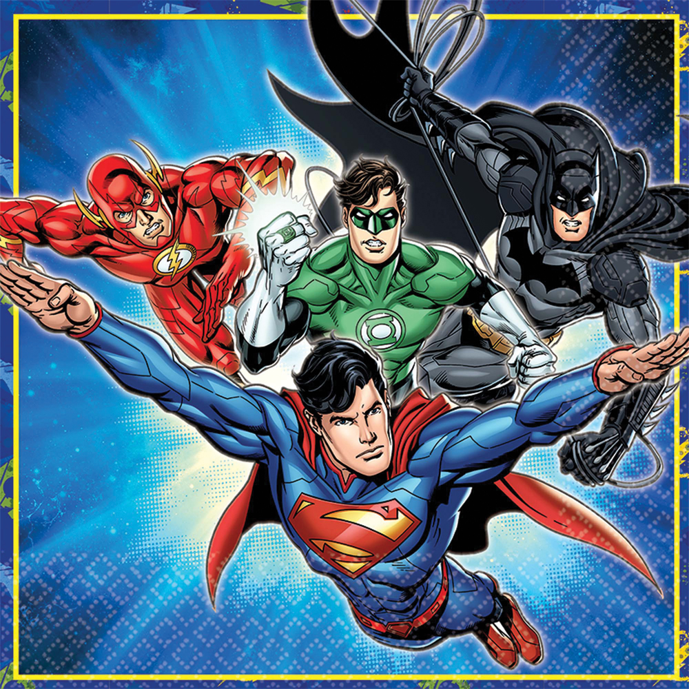 Featured Image for 6.5″ Justice League Lunch Napkins – Pack of 16