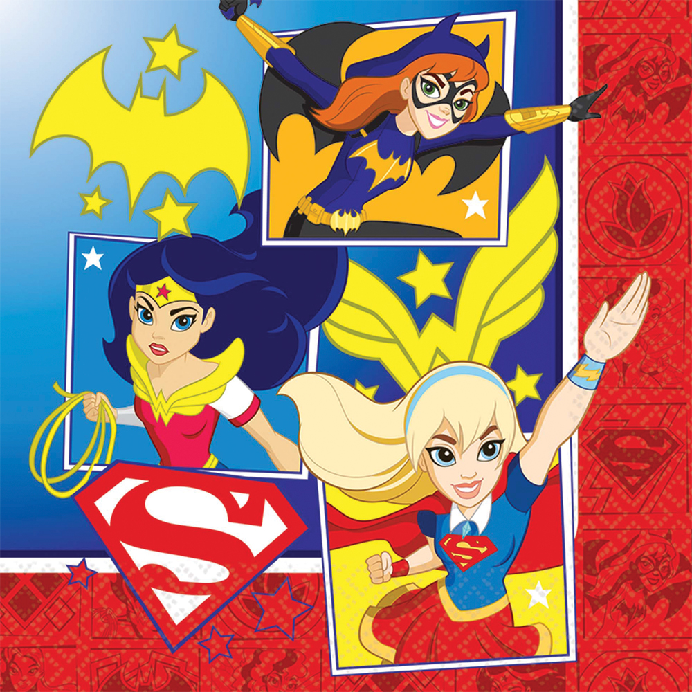 Featured Image for 6.5″ DC Superhero Girls Lunch Napkins – Pack of 16