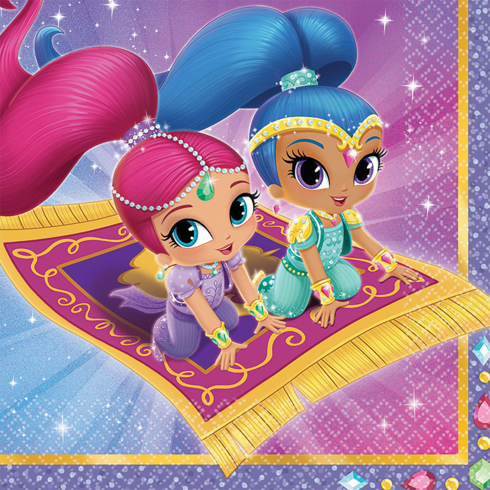 Featured Image for 6.5″ Shimmer Shine Lunch Napkin – Pack of 16