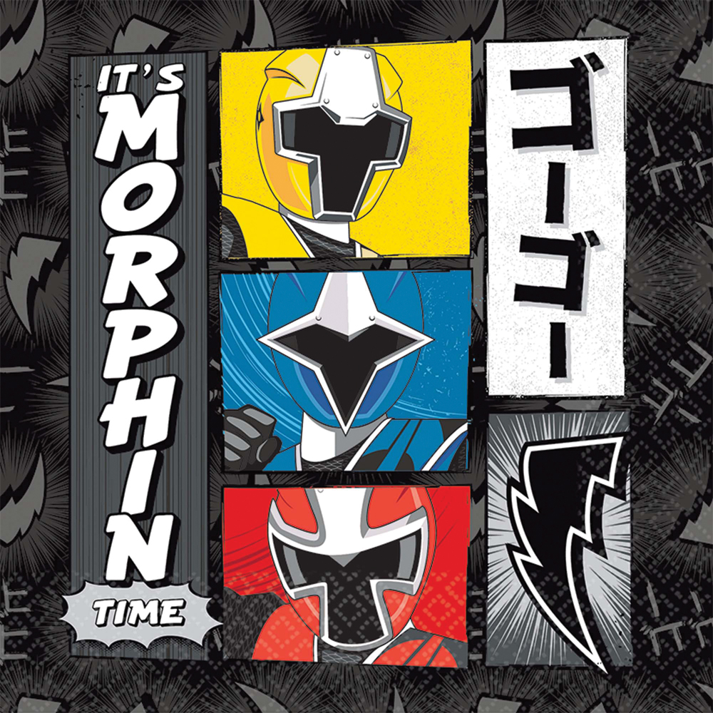 Featured Image for 6.5″ Power Rangers Lunch Napkins – Pack of 16