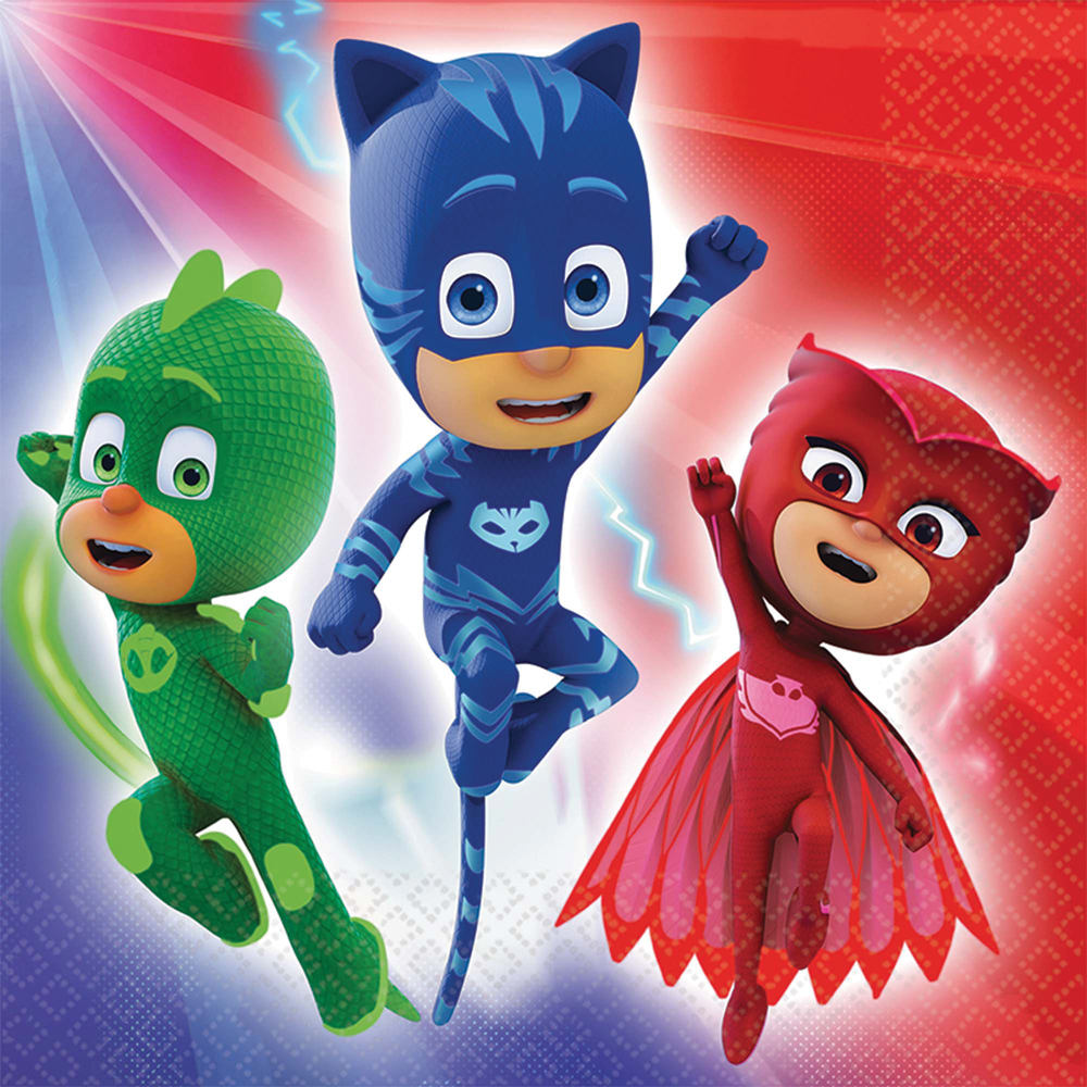 Featured Image for 6.5″ PJ Masks Lunch Napkins – Pack of 16