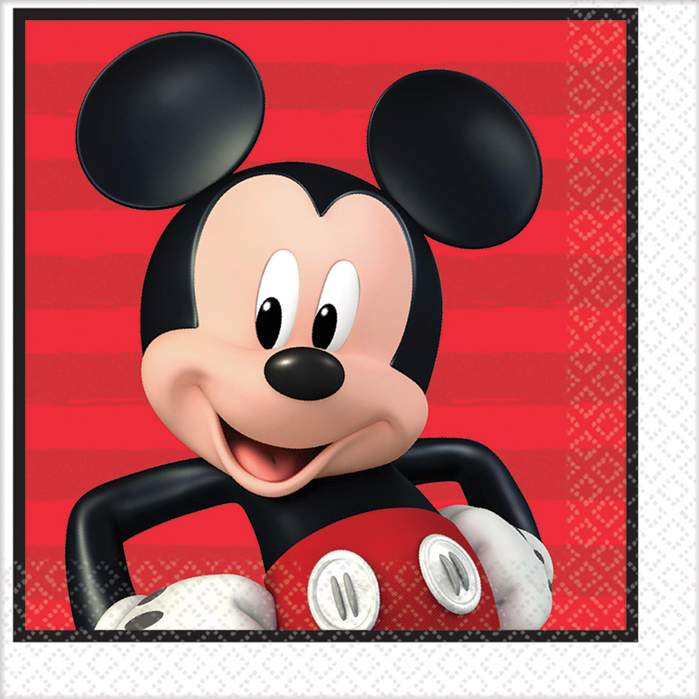 Featured Image for 6.5″ Disney Mickey Lunch Napkin – Pack of 16