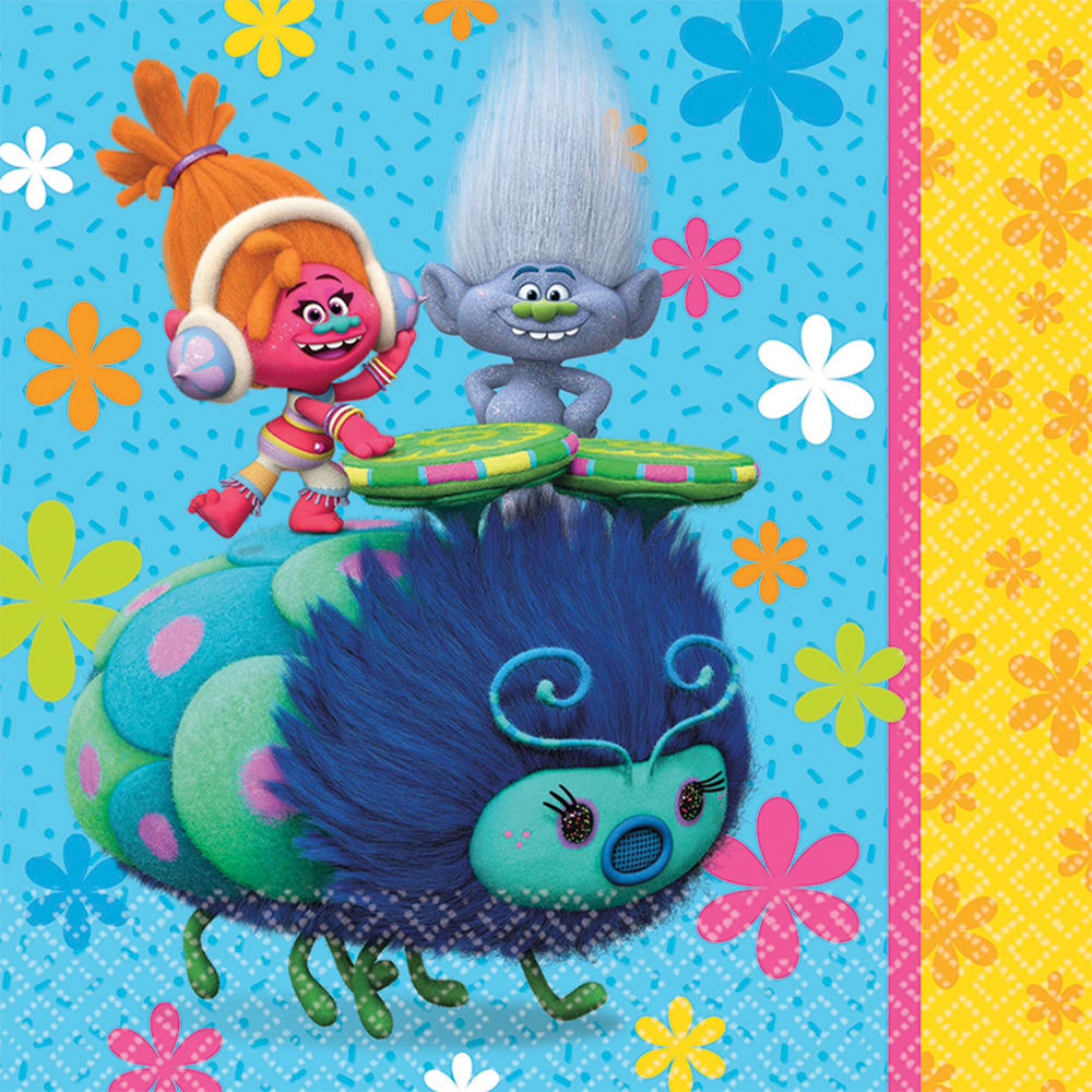 Featured Image for 6.5″ Trolls Lunch Napkins – Pack of 16