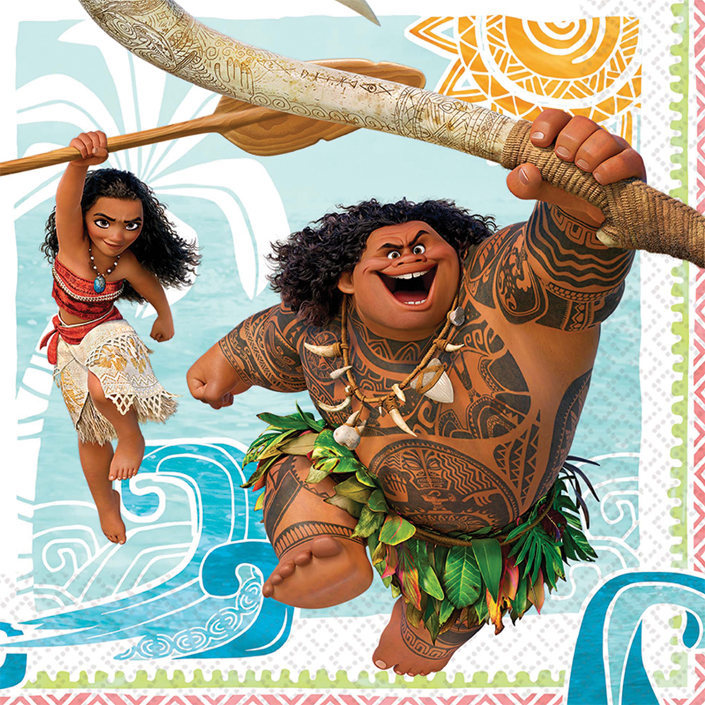 Featured Image for 6.5″ Moana Lunch Napkins – Pack of 16