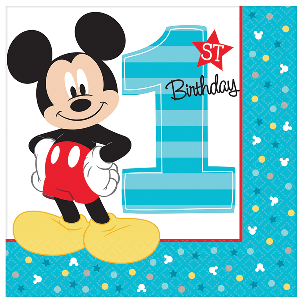 Featured Image for 6.5″ Mickey 1st Lunch Napkins – Pack of 16