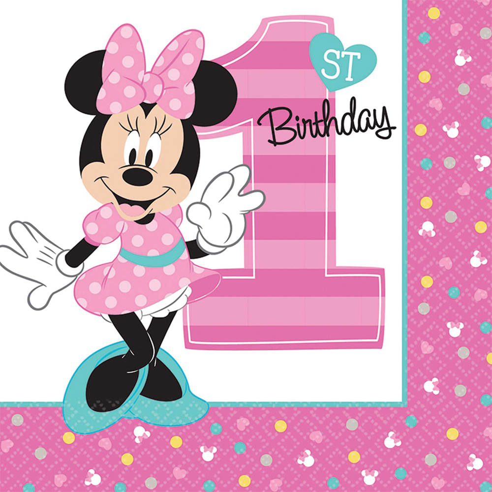 Featured Image for 6.5″ Minnie 1st Lunch Napkins – Pack of 16