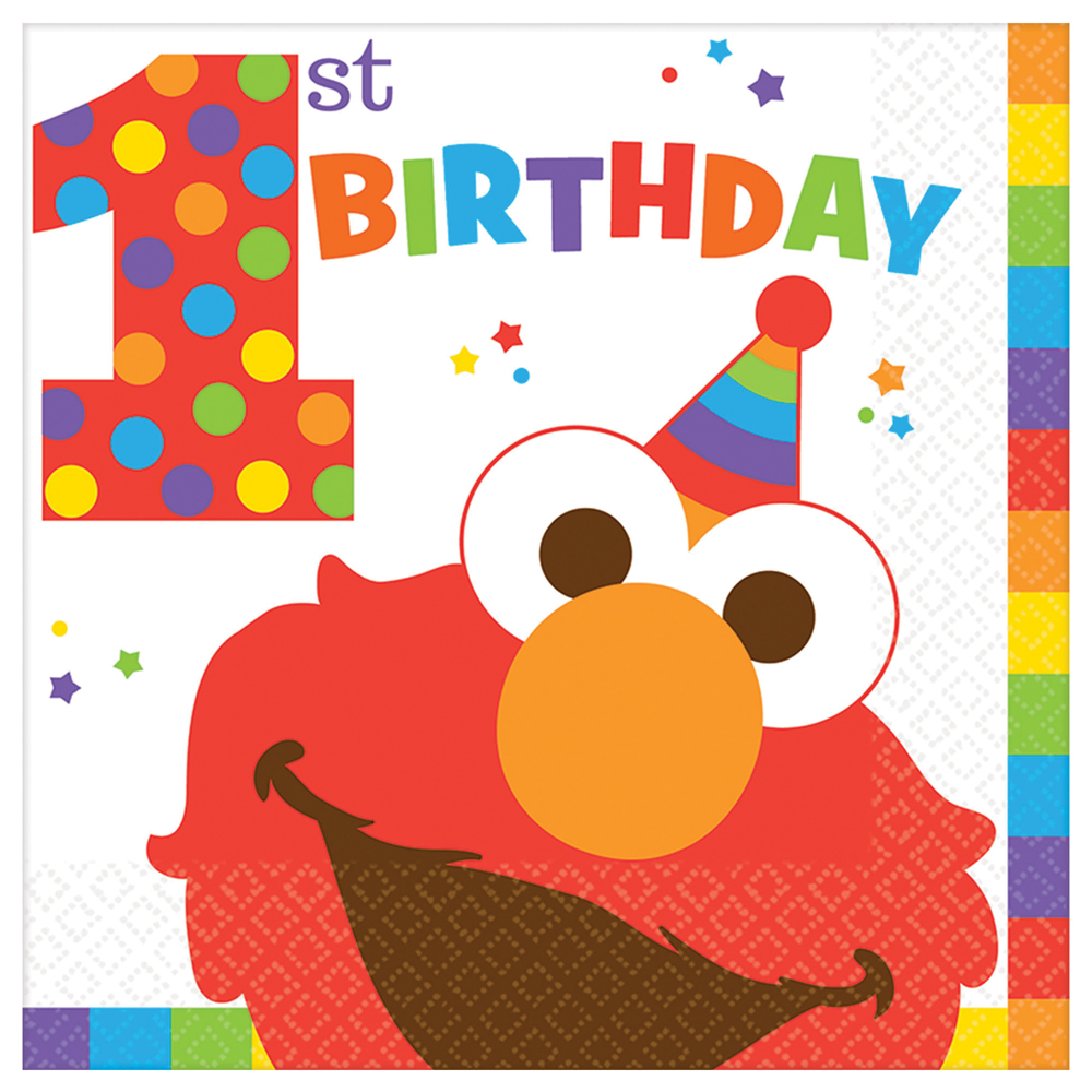 Featured Image for 6.5″ Elmo 1st Lunch Napkins – Pack of 16