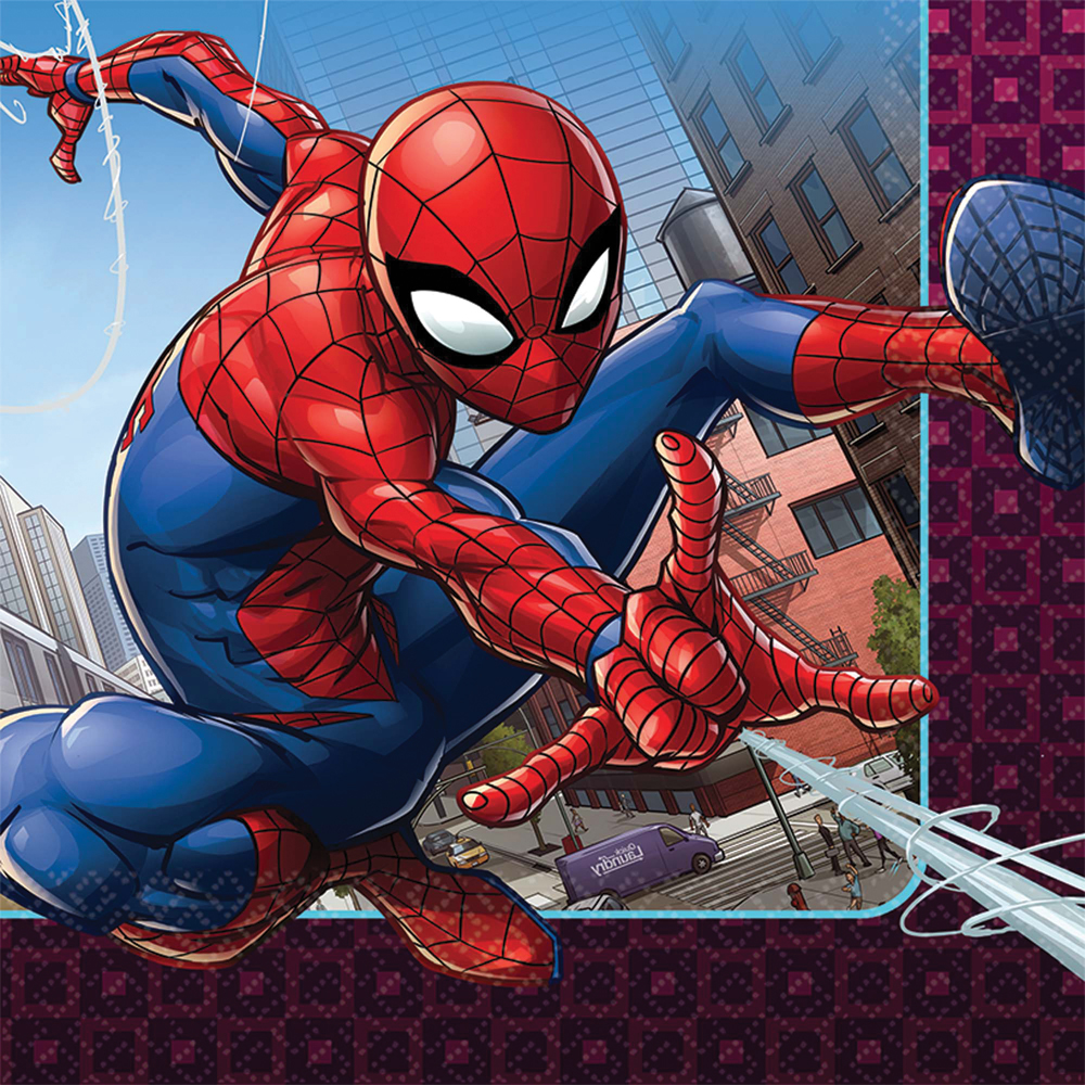 Featured Image for 6.5″ Spider-Man Lunch Napkins – Pack of 16