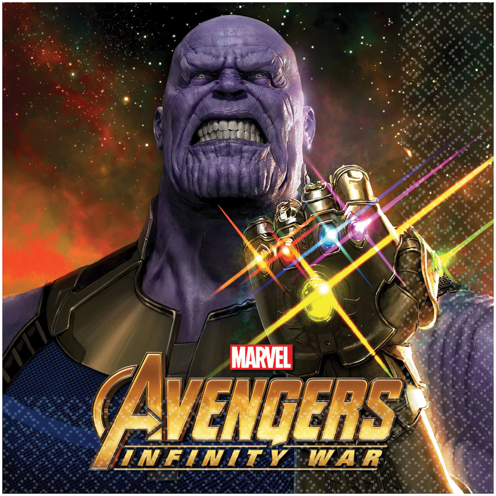 Featured Image for 6.5″ Marvel Infinity War Lunch Napkins – Pack of 16