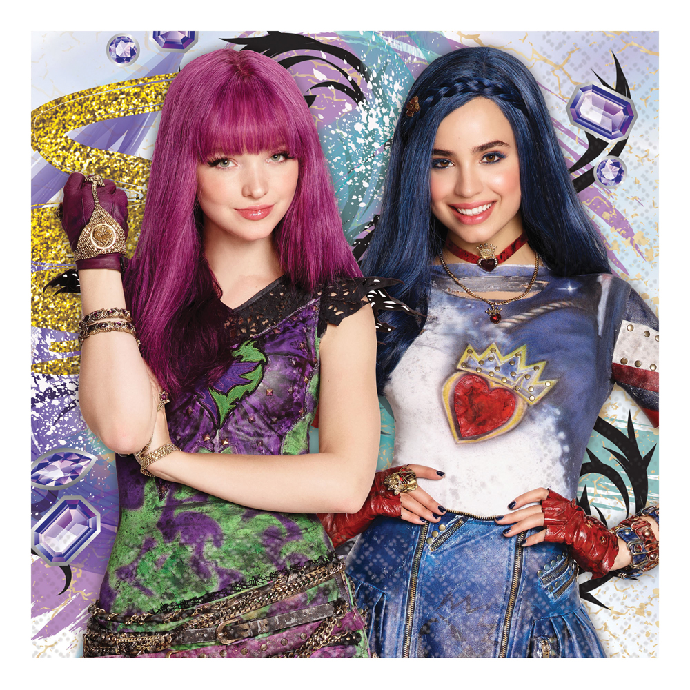 Featured Image for 6.5″ Disney Descendants 2 Lunch Napkins – Pack of 16