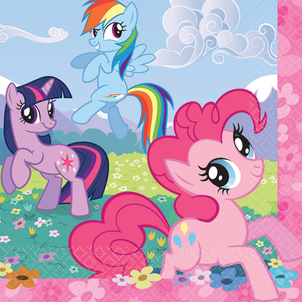 Featured Image for 6.5″ My Little Pony Lunch Napkins – Pack of 16