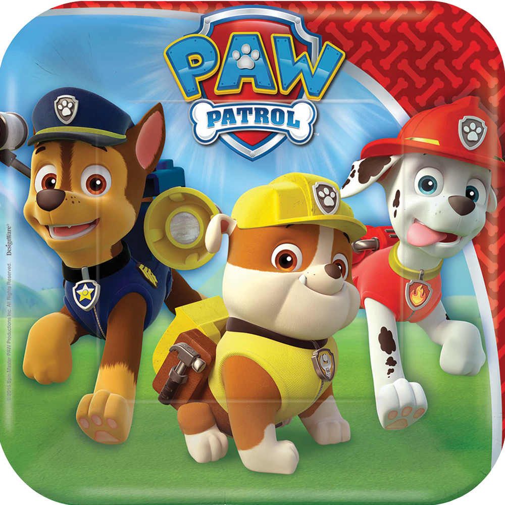 Featured Image for 7″ PAW Patrol Square Plates – Pack of 8