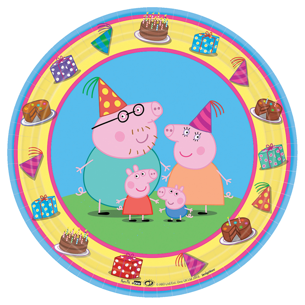 Featured Image for 7″ Peppa Pig Round Plates – Pack of 8