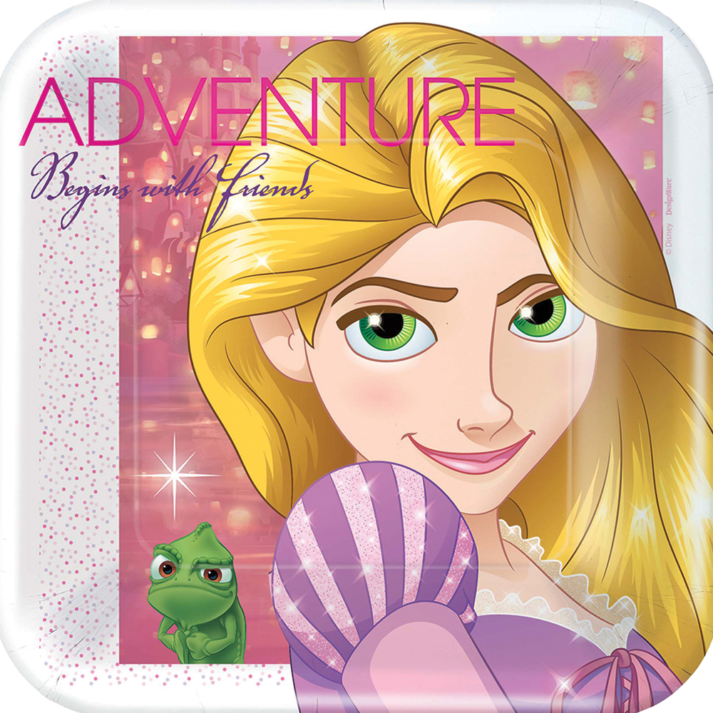 Featured Image for 7″ Disney Rapunzel Square Plates – Pack of 8