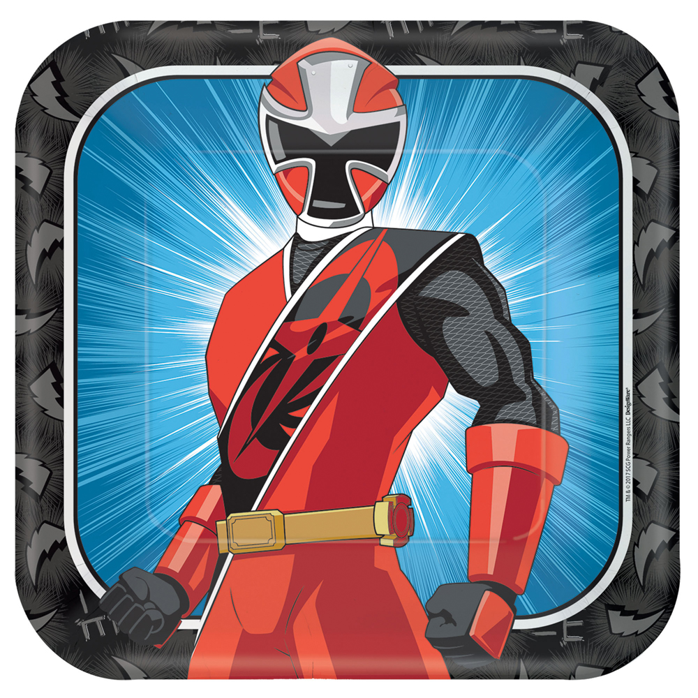 Featured Image for 9″ Power Rangers Square Plates – Pack of 8