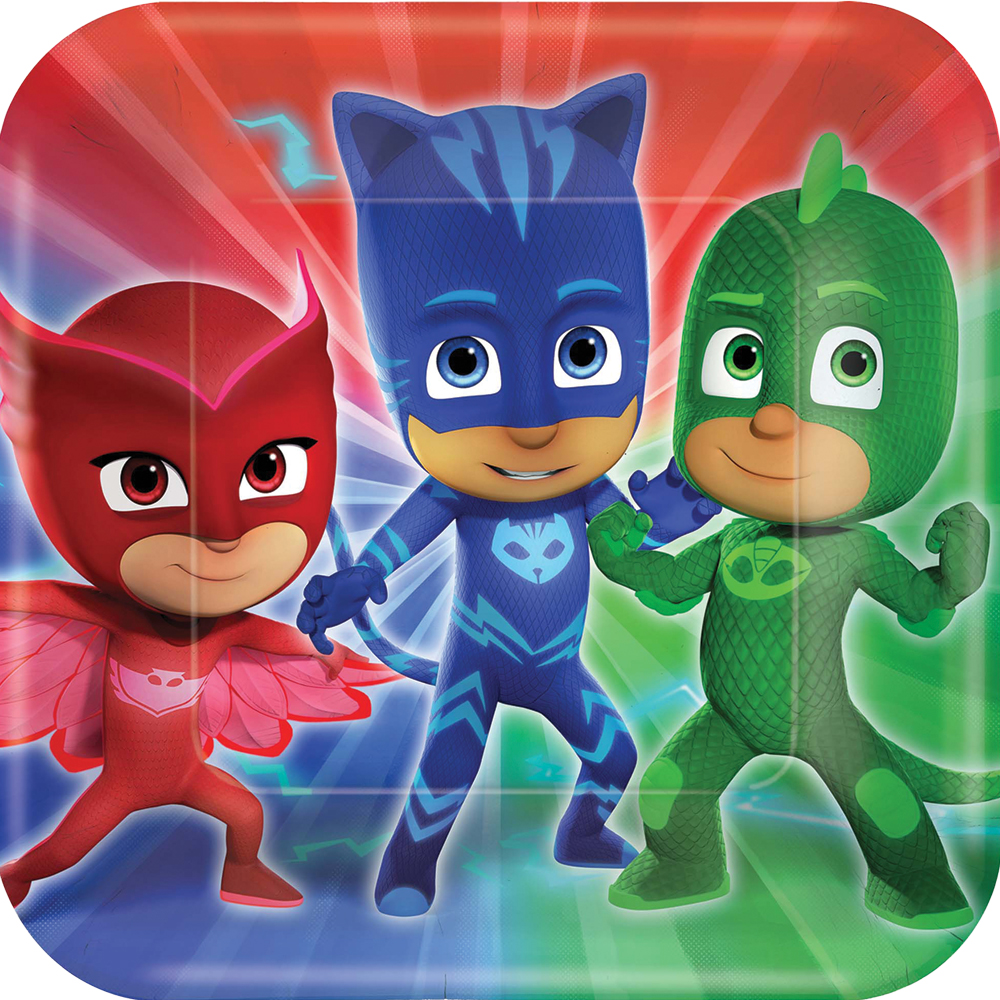 Featured Image for 9″ PJ Masks Square Plates – Pack of 8