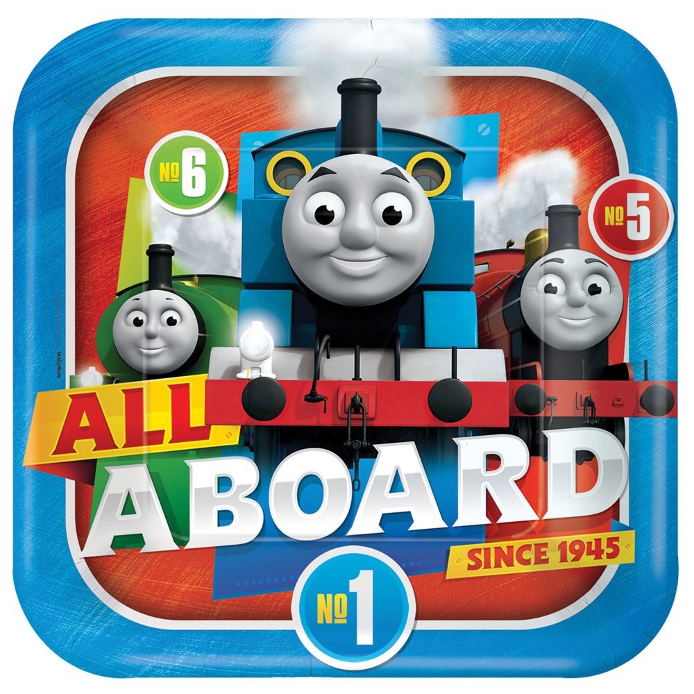 Featured Image for 9″ Thomas The Tank Square Plates – Pack of 8