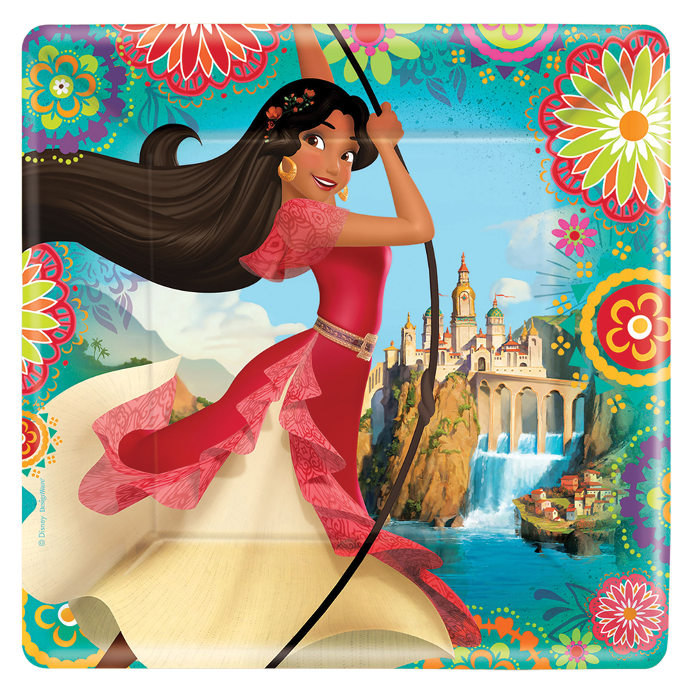 Featured Image for 9″ Elena Of Avalor Square Plates – Pack of 8