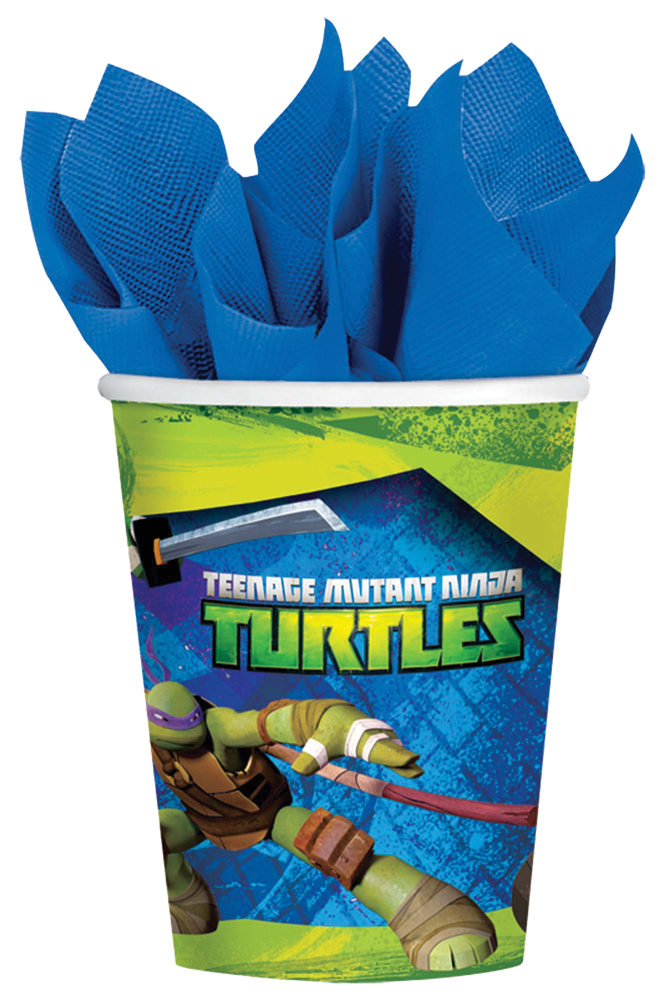 Featured Image for 9oz Ninja Turtles Cups – Pack of 8
