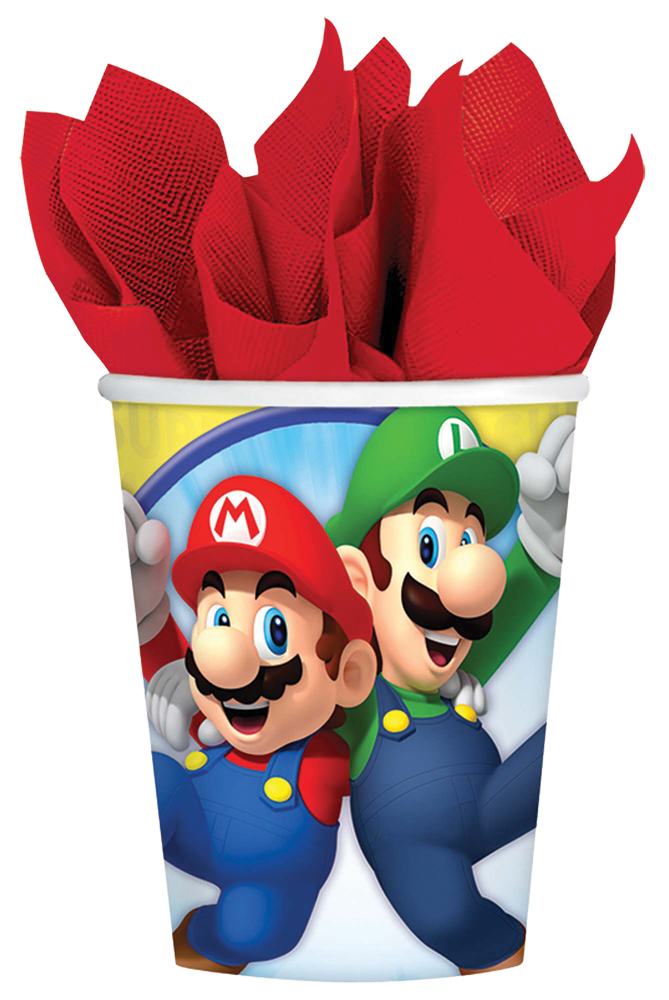Featured Image for 9oz Super Mario Cups – Pack of 8