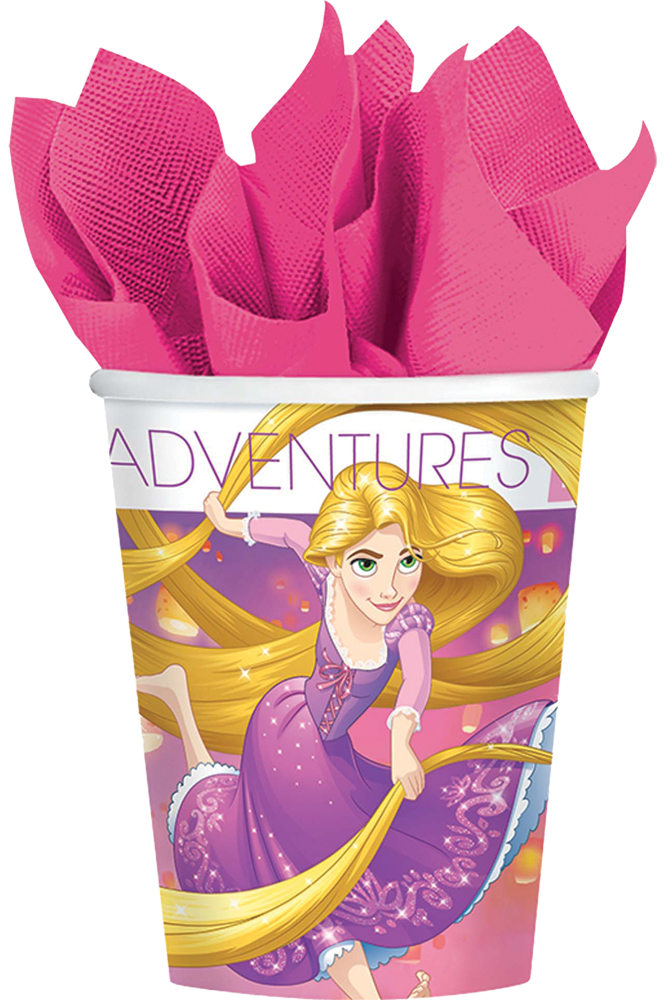 Featured Image for 9oz Disney Rapunzel Cups – Pack of 8